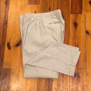 Nautical seesucker suit pants - size 33/32